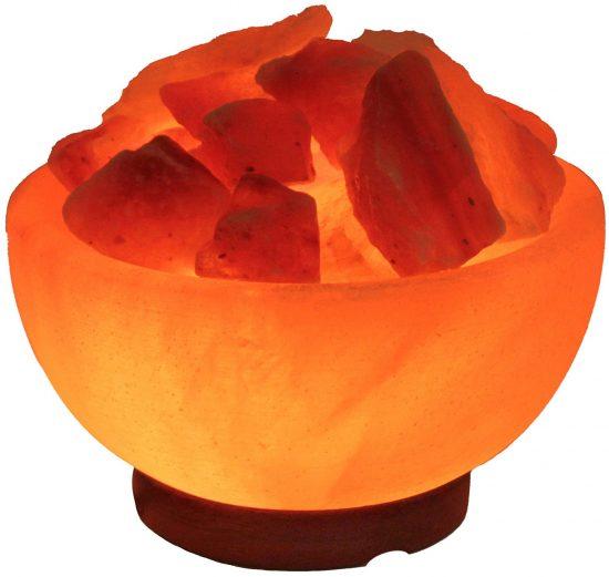 bowl himalayan rock salt lamp